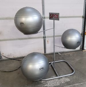 Spri exercise balls and stand for Sale in Seattle, WA