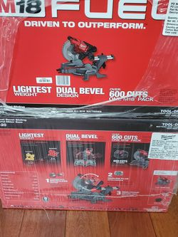 New In Box Milwaukee M18 7-1/4 Miter Saw (Tool Only) No Pila. for Sale in Downey,  CA