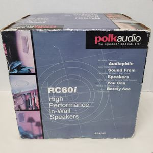 Polk Audio RC60i High Performance In-Wall Speakers for Sale in Valrico, FL