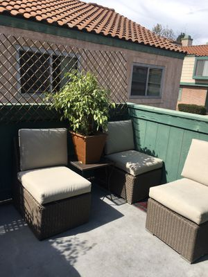 Patio Set of 3 with small table for Sale in Claremont, CA