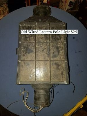 Old Wired Lantern Pole Light $25 for Sale in Dresden, OH