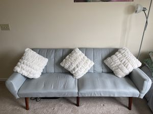 Couch with throw pillows for Sale in Morgantown, WV