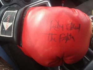 Autographed set of 2 boxing gloves for Sale in CORP CHRISTI, TX
