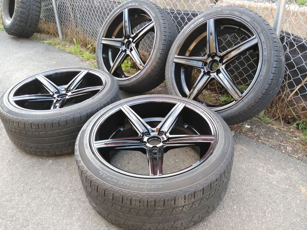 22 Niche rims staggered 5x114 fit dodge Ford toyotas Nissan infint