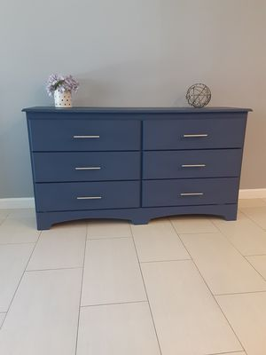 Beautiful modern wooden dresser, in a blue color for Sale in Los Angeles, CA