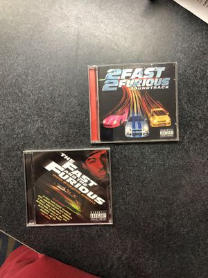 Fast and the Furious & 2 Fast 2 Furious soundtracks for Sale in Griswold, CT