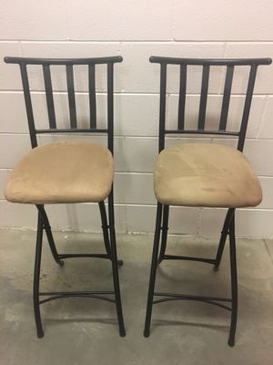 Pair of nice Cheyenne company folding stools. Euc for Sale in Englewood, CO