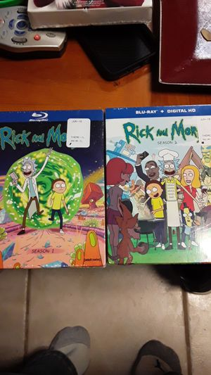 Rick and Morty season 1 and 2 blu ray dvd for Sale in Wantagh, NY