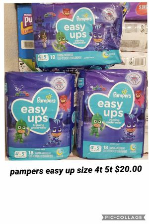 pampers easy up size 4t 5t for Sale in Los Angeles, CA