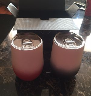 Natumax wine tumblers stainless steel double wall! for Sale in Hoxeyville, MI