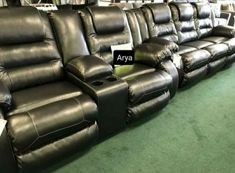 🔥Best Price Brand🆕️ Vacherie Black Reclining Living Room Set for Sale in Alexandria,  VA