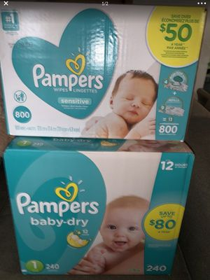 Pampers and Baby Wipes Bundle for Sale in Philadelphia, PA