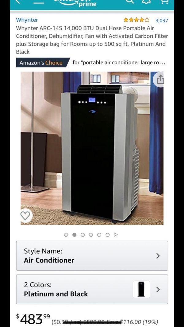 Whynter ARC-14S 14,000 BTU Dual Hose Portable Air Conditioner AC