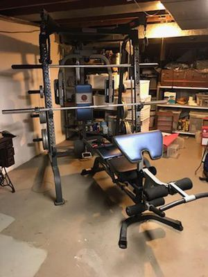 Marcy Home Gym w/ 265lbs of plates for Sale in Fairlawn, OH