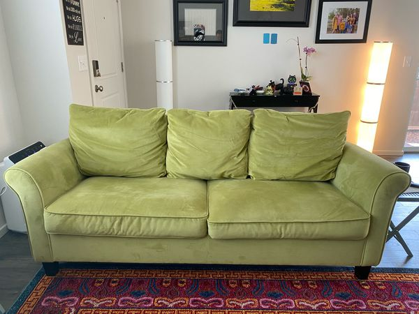 Green Microfiber Sofa