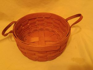 Longaberger Basket with Leather Handles 1991 New for Sale in Audubon, NJ