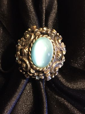 Beautiful Blue Cats Eye Adjustable Renaissance Style Ring for Sale in Raymore, MO