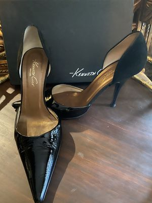 KENNETH COLE Valid Point Black Leather Suede Heels for Sale in Spring, TX