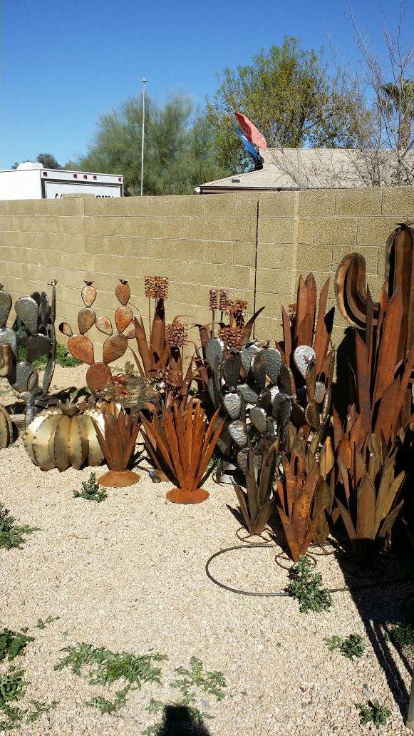 Variety Of Metal Cactus Yard Art For Sale In Phoenix Az