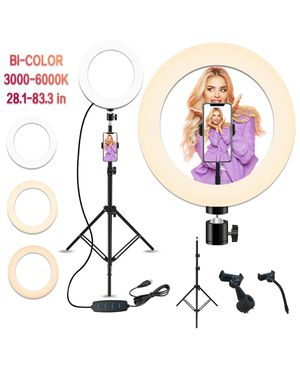 10'' Selfie Ring Light with 28.1'' to 83.8'' Extendable Tripid Stand,Peteme Led Ring Light with Phone Holder for Sale in Hacienda Heights, CA