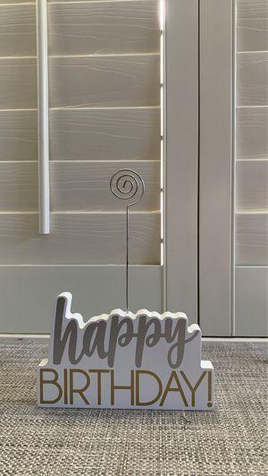 HAPPY BIRTHDAY PHOTO HOLDER for Sale in Whittier, CA
