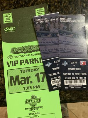 March 17 club level Seattle Thunderbirds tickets for Sale in Olympia, WA