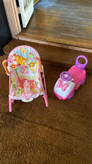 Baby rocker and Minnie Mouse riding toy for Sale in Montebello, CA