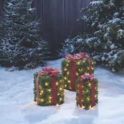 Set of 3 Lighted Christmas Topiary Gift Boxes for Sale in Los Angeles,  CA