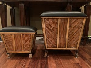 Bamboo Wood Stool Seat W/ Storage for Sale in Los Angeles, CA