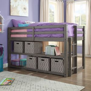 Better Homes and Gardens Greer Twin Loft Storage Bed with Spacious Storage Shelves for Sale in Houston, TX