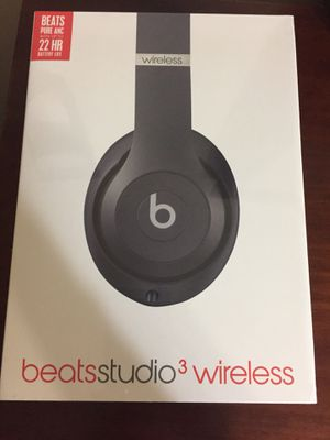 Beats Studio3 Wireless Noise Cancelling Over-Ear Headphones - Blue for Sale in North Miami Beach, FL