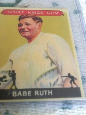 Sports replica baseball card of Babe Ruth for Sale for sale  Roselle, NJ