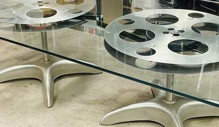 Glass Top Film Reel Coffee Table for Sale in San Diego,  CA