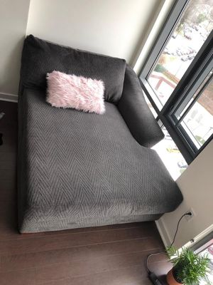 3 piece Grey Sectional with ottoman for Sale in Alexandria, VA
