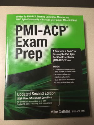 PMI ACP Exam Prep updated second edition for Sale in Herndon, VA