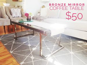 Bronze mirror coffee table! So nice! for Sale in San Diego, CA
