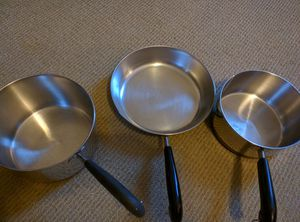 3 piece Revere Ware copper bottom pots and pan for Sale in Cypress, TX