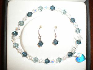 Impenco Sterling & Swarovski set; bracelet and earrings for Sale in Indianapolis, IN