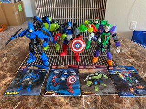 LEGO SÚPER HÉROES MARVEL AND DC UNIVERSE BATMAN, JOKER. HULK, CAPTAIN AMERICA, GREEN LANTERN for Sale in Apopka, FL