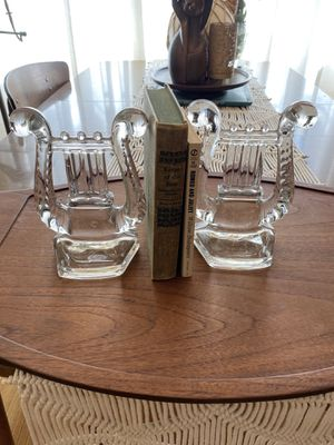 Vintage Fostoria lyre harp musical bookends for Sale in Garden Grove, CA