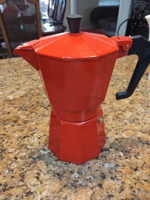 Red mini coffee pot for Sale in Fresno, CA