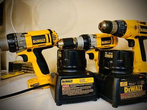 Dewalt drills and case /chargers for Sale in Rockford, IL