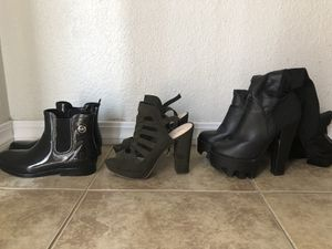 Rain boots and pumps ! for Sale in Fresno, CA