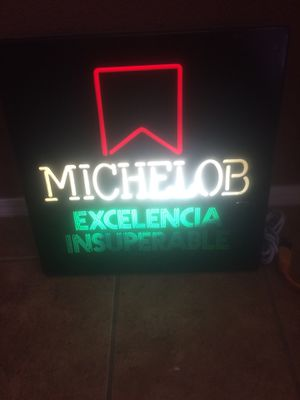 Nice man cave Michelob sign everything works for Sale in Madera, CA