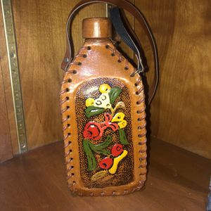 Ecuador leather wrapped bottle for Sale in Rocky Mount, NC