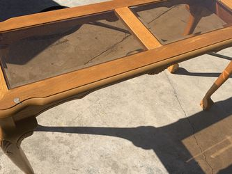 Oak And Glass Table for Sale in Walnut,  CA