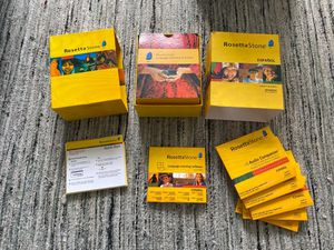 Rosetta Stone Spanish levels 1-5 complete for Sale in Los Angeles, CA