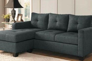 Phelps Reversible Sectional Sofa Dark Gray 9789 VENDORHOMELEGANCE for Sale in Houston,  TX