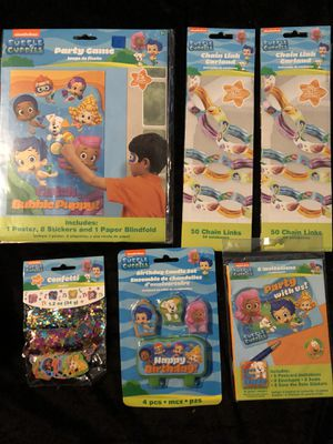 Bubble guppies birthday party supplies for Sale in Ontario, CA