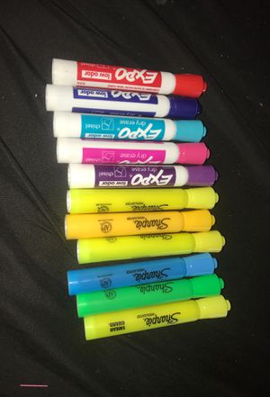 Expo dry erase & Sharpie Highlighters. for Sale in San Jose, CA